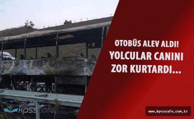 Bursa'da Panik! Yolcu Otobüsü Alevler İçerisinde Kaldı!