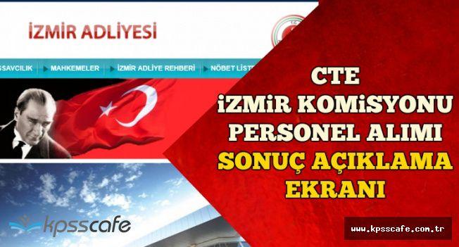 CTE İzmir Personel Alımı Sonuç Açıklama Ekranı-KPSS Puan Sıralaması Açıklandı mı?