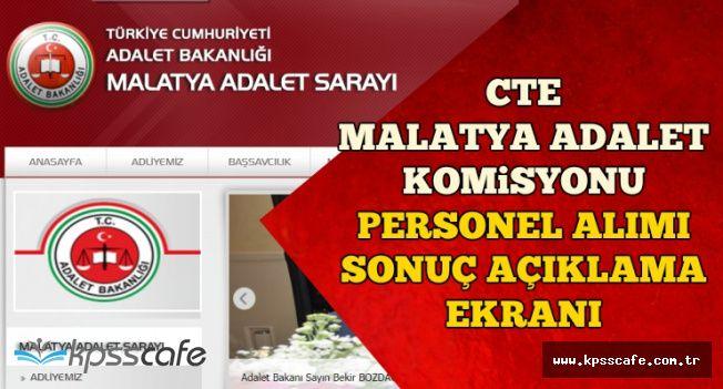 CTE Malatya Komisyonu Personel Alımı Sonuç Açıklama Ekranı-Sonuçlar Açıklandı mı?