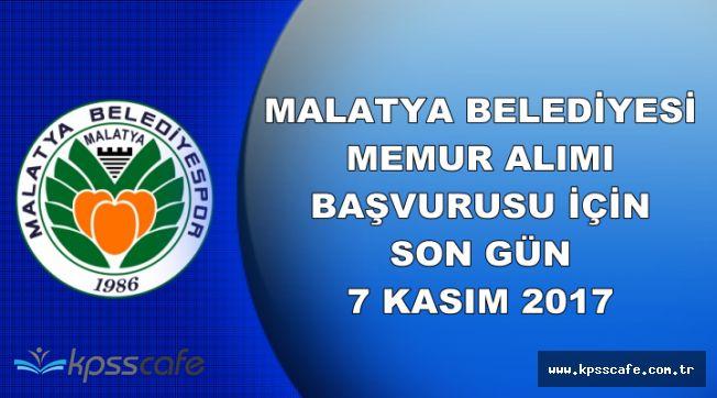 Malatya Büyükşehir Belediyesi Personel Alımı Başvurusu İçin Son Gün: 7 Kasım 2017