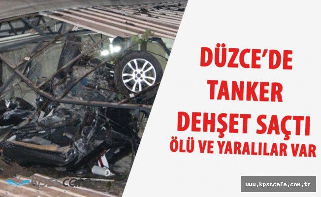 Düzce'de Freni Boşalan Tanker Dehşet Saçtı! Ölü ve Yaralılar Var