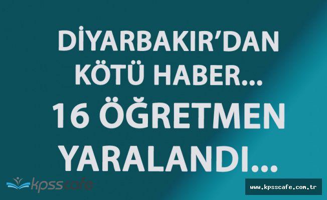 Diyarbakır'dan Kötü Haber! 4'ü Ağır 16 Kişi Yaralandı