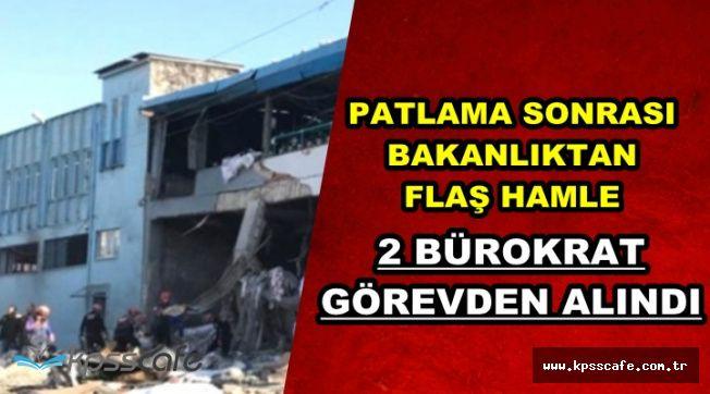 Bursa'daki Patlama Sonrası Flaş Karar: İki Bürokrat Görevden Alındı