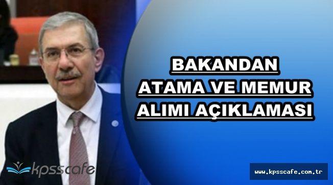 Bakandan Atama, Güvenlik Soruşturması ve Memur Alımı Açıklaması
