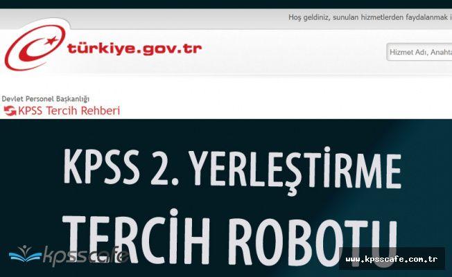 KPSS 2017/2 Tercih Robotu Yayımlandı
