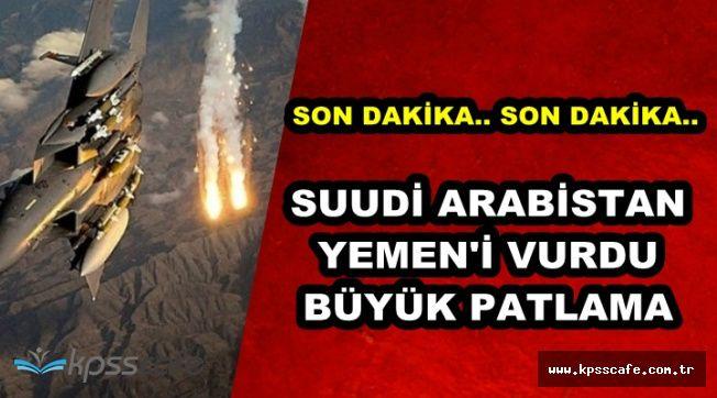 Suudi Arabistan Yemen'i Vurdu: Savunma Bakanlığı Binasını Patlattılar