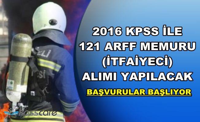 2016 KPSS Puanı ile 121 ARFF Memuru (İtfaiyeci) Alımı Yapılacak-İşte Başvuru Şartları