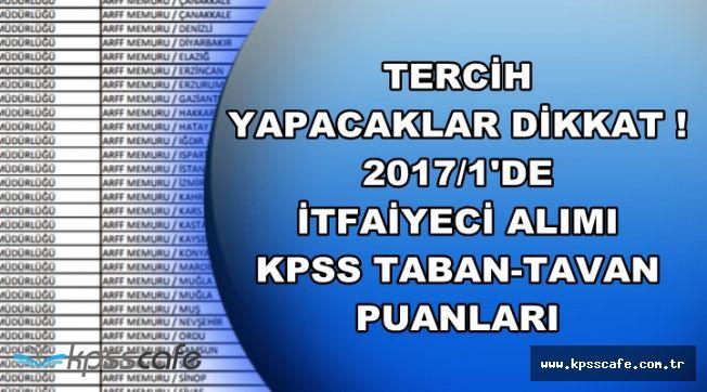 121 İtfaiyeci Alımında KPSS Puanı Kaça Kadar Düşer? 2017/1'de KPSS Kaça Kadar Düşmüştü?