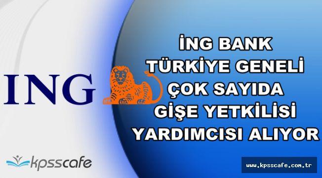 ING Bank Çok Sayıda Gişe Yetkili Yardımcısı Alıyor-Başvurular İnternetteb