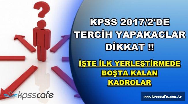 KPSS 2017/1'de Kaç Kadro Boş Kalmıştı? (KPSS 2017/2 Tercih)