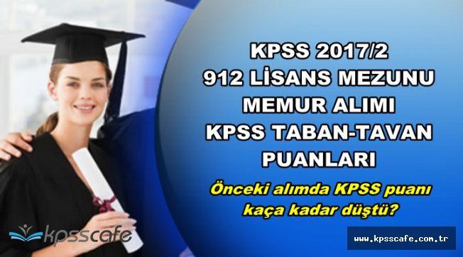 KPSS 2017/2 912 Memur Alımı KPSS Taban-Tavan Puanları (Önceki Alım Kaçla Kapatmıştı?)