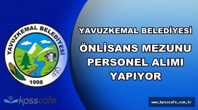 DPB'de Yayımlandı: Yavuzkemal Belediyesi Önlisans Mezunu Personel Alıyor