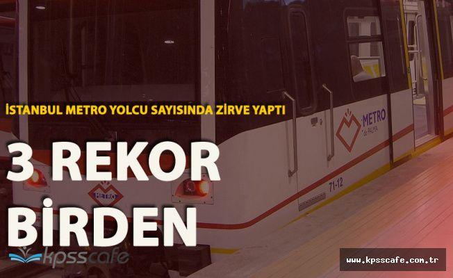İstanbul'da Metro Kullanan Yolcu Sayısında Rekor Artış
