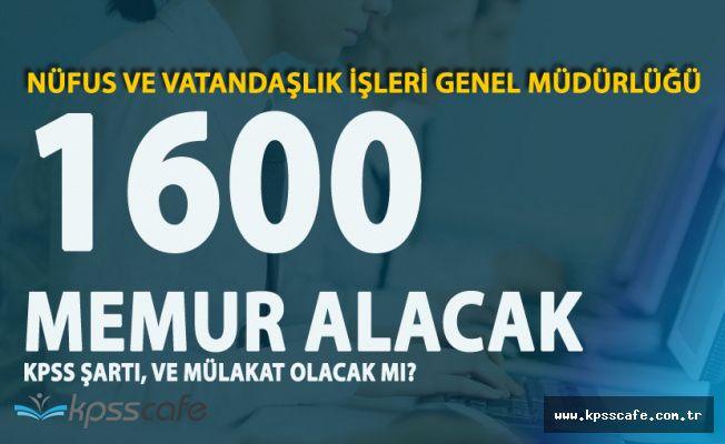 Resmi Gazete'de Yayımlandı! Nüfus Müdürlüklerine 1600 Kişi Alınacak (KPSS Şartı ve Mülakat Olacak Mı?)