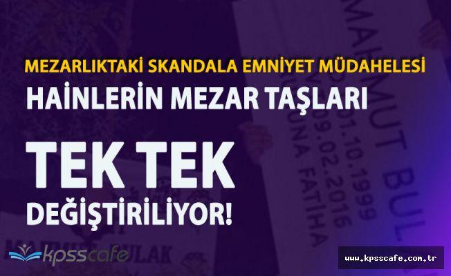 Emniyet Müdahele Etti! PKK'lıların Mezar Taşları Değiştirildi!