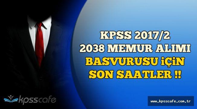 KPSS 2017/2 Tercih Başvurusu İçin Son Saatler (208 Lise, 1830 Üniversite Mezunu Memur Alımı)