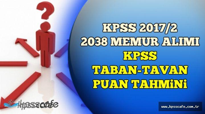 KPSS 2017/2 Yerleştirme KPSS Tavan-Taban Puan Tahmini