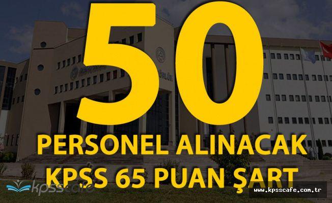 Erciyes Üniversitesi KPSS En Az 65 Puanla 50 Kişi Alacak!