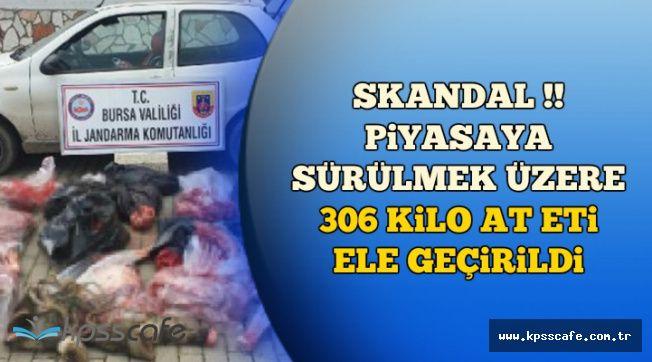 Skandal: Piyasaya Sürülmek Üzere 306 Kilo At Eti Ele Geçirildi