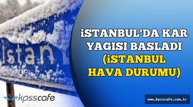 İstanbul'da Yağış Başladı (6-7 Aralık İstanbul Hava Durumu)