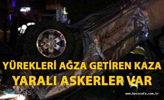 Samsun'da Askeri Araç Takla Attı, Yaralı Askerler Var!