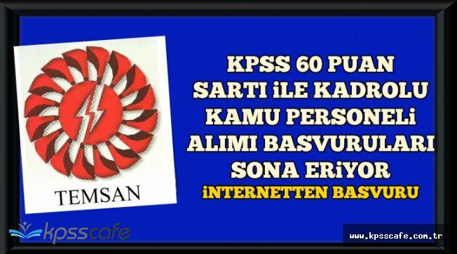 KPSS 60 Puan Şartı ile Kadrolu Kamu Personeli Alımı Başvurusu Sona Eriyor-İnternetten Başvuru Ekranı