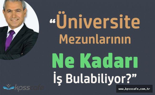 Abbas Güçlü 'Peki Üniversite Mezunlarının Ne Kadarı İş Bulabiliyor?'