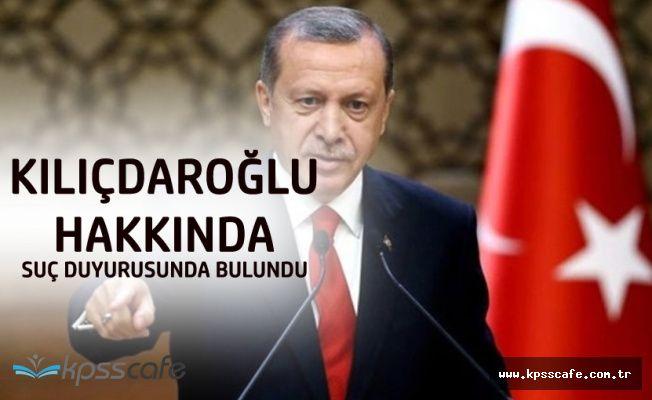 Cumhurbaşkanı Erdoğan Kılıçdaroğlu Hakkında Suç Duyurusunda Bulundu