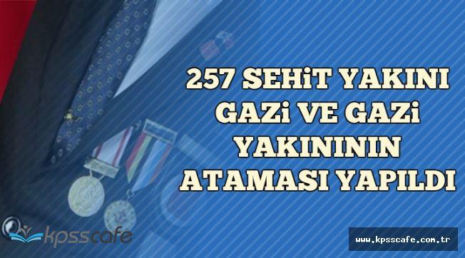 DPB Duyurdu: 257 Şehit Yakını, Gazi ve Gazi Yakınının Ataması Yapıldı