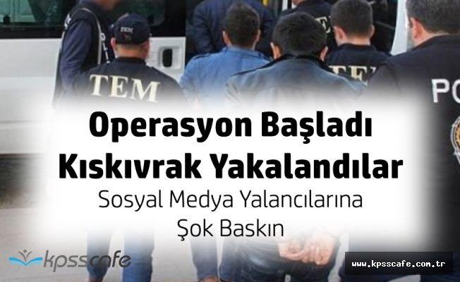 Diyarbakır'da Sosyal Medya Operasyonu! 17 Şüpheliden 8'i Yakalandı!