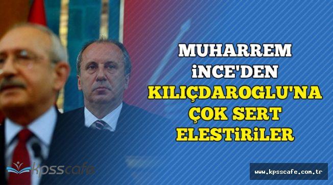 """Muharrem İnce'den Kılıçdaroğlu'na Sert Eleştiriler: """"Mankafa.."""""""