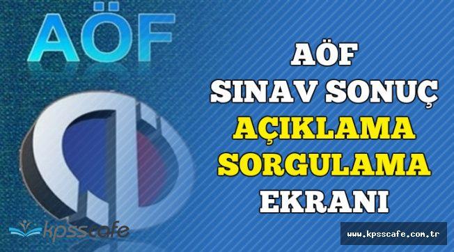 Anadolu Üniversitesi AÖF Final Sonuçları Açıklanma Saati (Sonuç Sorgulama Ekranı)