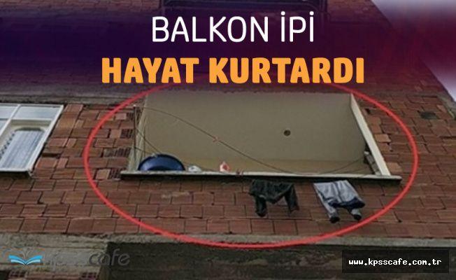 Balkon İpi Hayat Kurtardı! Samsun'da Mucize