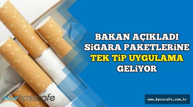 Sigara Paketleri Değişiyor-Tek Tip Uygulama Geliyor