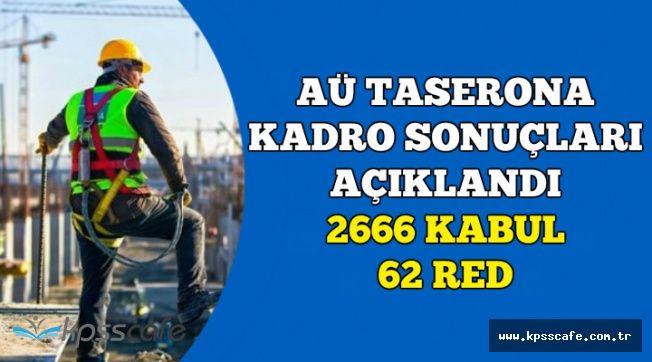 AÜ Taşerona Kadro Başvuru Sonuçları Açıklandı: 2666 Kabul , 62 Red