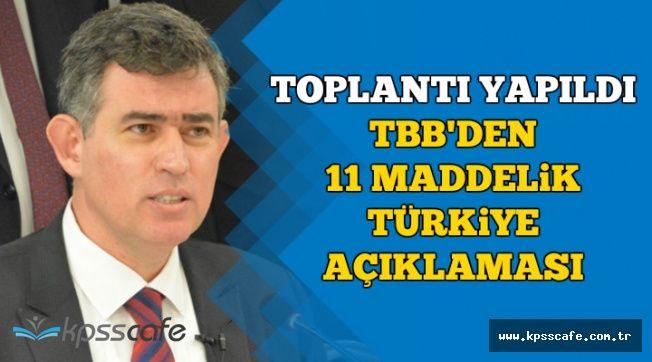 TBB'den 11 Maddelik Kritik 'Türkiye' İbaresi Bildirisi