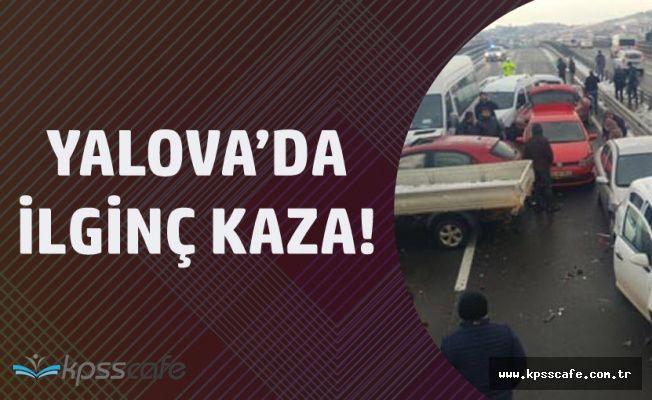 Yalova Çiftlikköy'de 11 Araç Birbirine Girdi!