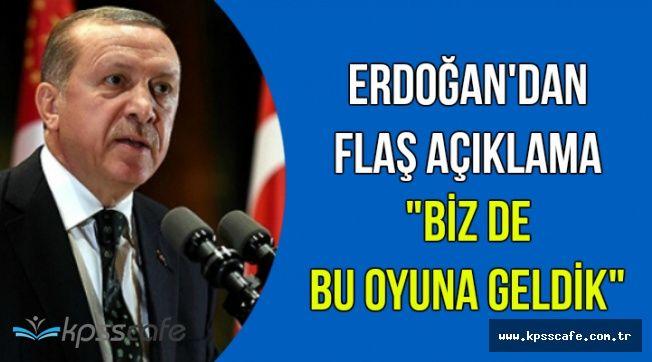 """Cumhurbaşkanı Erdoğan: """"Özeleştiri olarak söylüyorum biz de bu oyuna geldik"""""""