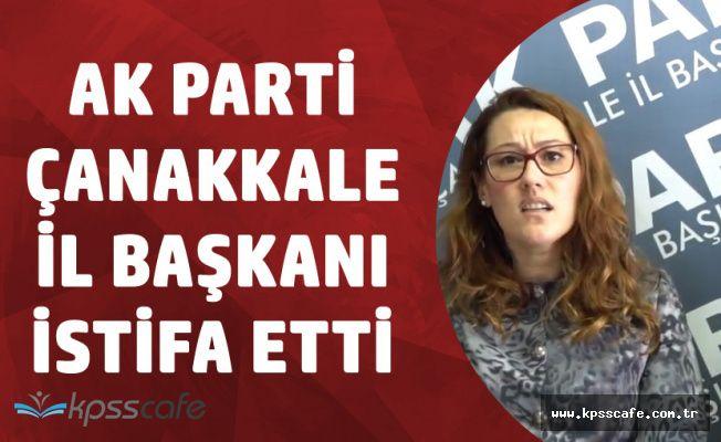 AK PartiÇanakkale İl Başkanı Yeşim Karadağ İstifa Etti