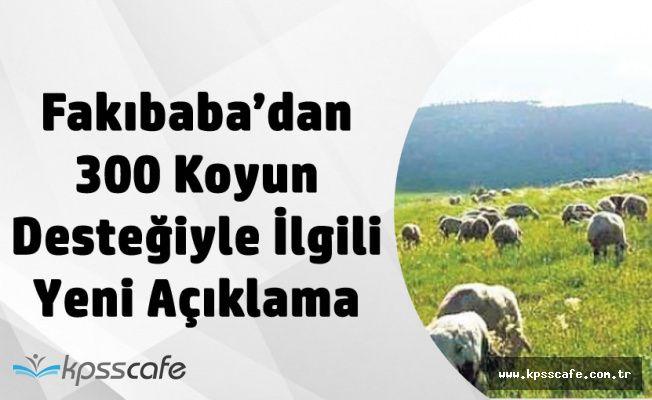 300 Koyun ve Asgari Ücret Projesiyle İlgili Açıklama