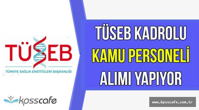TÜSEB Kadrolu Kamu Personeli Alımı Yapıyor-Başvurular Sürüyor