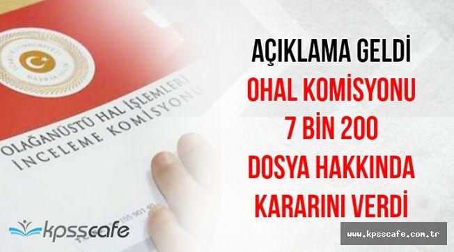 OHAL Komisyonu Çalışmalarında Son Durum: 7 Bin 200 Dosya Hakkında Karar Verildi