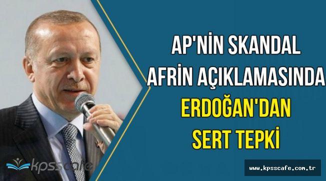 Avrupa Parlamentosu'nun Afrin Kararına Erdoğan'dan Sert Tepki