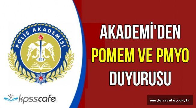 Polis Akademisi'nden POMEM ve PMYO Duyurusu