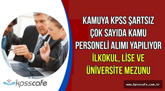 Kamuya KPSS'siz Çok Sayıda Memur Personel Alımı Yapılıyor (İlkokul, Lise ve Üniversite Mezunu)