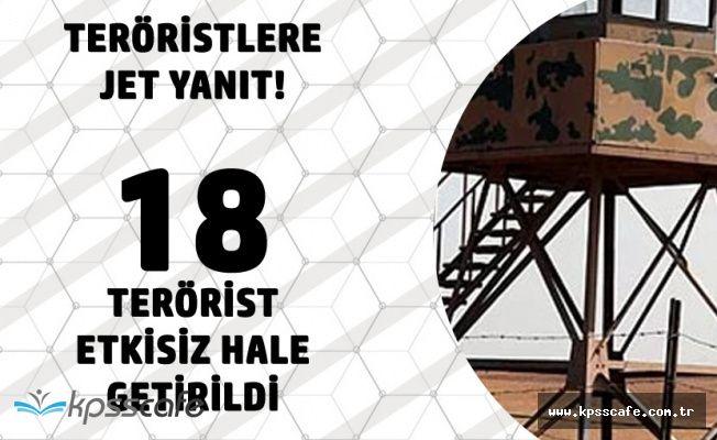 Mehmetçikten Jet Yanıt! 18 Bölücü Hain Öldürüldü!