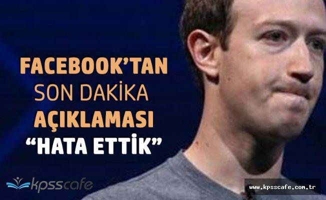 Son Dakika! Vee Facebook'tan İtiraf Geldi 'Hatalar Ettik'