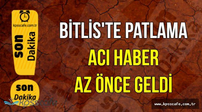 Bitlis'ten Acı Haber: 1 Askerimiz Şehit Oldu