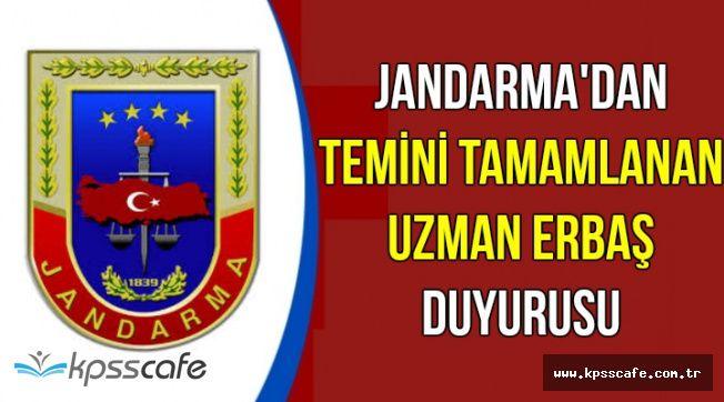 Jandarma'dan 2018 Uzman Erbaş Atama Duyurusu