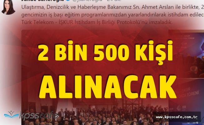 Bakan Duyurdu! Türk Telekom'a 2 Bin 500 Kişi Alınacak